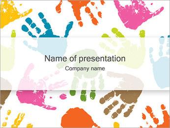 手形 PowerPointプレゼンテーションのテンプレート