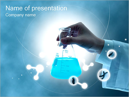Chemistry Test Tube Powerpoint Template Infographics Slides