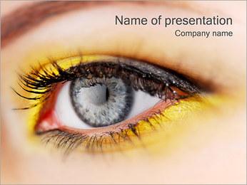 Woman Eye PowerPoint Template