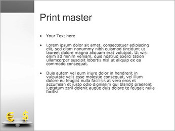 Dollar or Euro PowerPoint Template