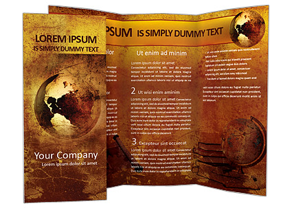 Ancient Map Brochure Template