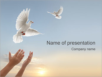 Heaven Powerpoint Template Smiletemplates Com