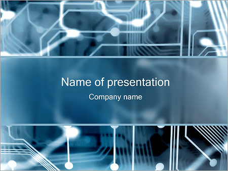 Electronic Circuit Powerpoint Template Backgrounds Google Slides
