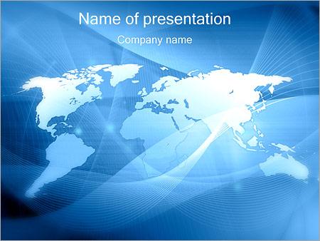 Streszczenie mapa świata Szablony prezentacji PowerPoint