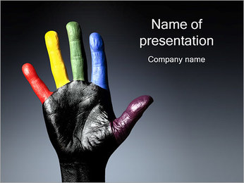 Printed Hand PowerPoint Template
