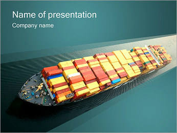 Container Ship PowerPoint Template