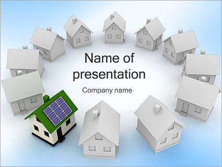 Home Alternative Energy PowerPoint Template & Infographics Slides