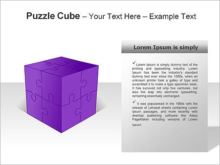 Puzzle Cube Gráficos y diagramas para PowerPoint - Diapositiva 19