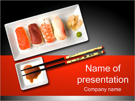 Japanese Sushi Powerpoint Template Infographics Slides