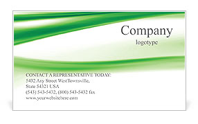 Green Abstract Waves Business Card Template