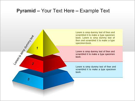 Piramide Grafieken en diagrammen voor PowerPoint