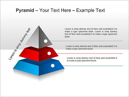 Piramide Grafieken en diagrammen voor PowerPoint - Slide 2