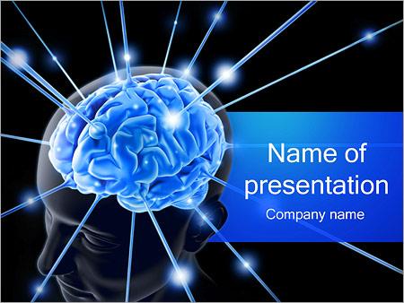 Human Brain Nerves Powerpoint Template Backgrounds Google Slides