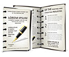 Pen and Notebook Brochure Template