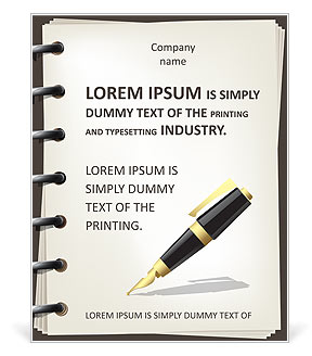 Pen and Notebook Poster Template
