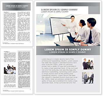 Business Presentation Word Template