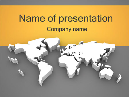 3d World Map Powerpoint Template Backgrounds Google Slides Id