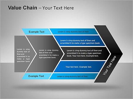 价值链 PowerPoint间图和图表 - 滑 4