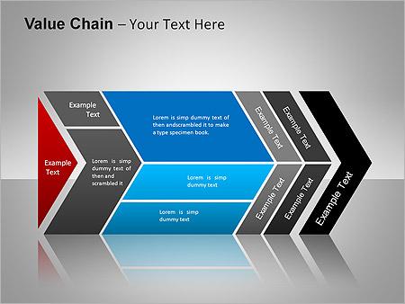 バリューチェーン PowerPointのための図式 - スライド 6
