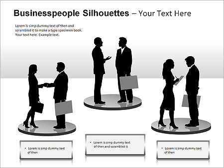 Businesspeople Silhouettes PPT Diagrams & Chart - Slide 11