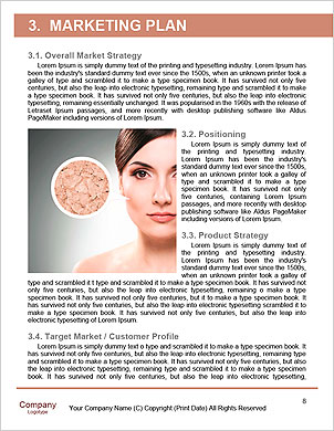 Concept skincare. Skin of beauty young woman before and after the procedure on a gray background Word Template - Page 8