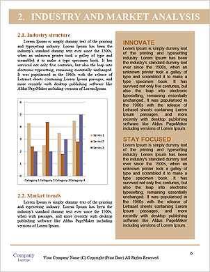 Modern people doing business, graphs and charts being demonstrated on the screen of a touch-pad Word Template - Page 6