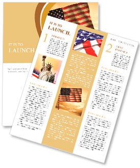 Old American Flag waving over sunset, USA flag for USA Independence Day, USA The Stars and Stripes f Newsletter Template