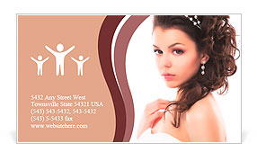 Portrait of Beautiful Young Fashion Sexy Bride Isolated on White Background. Jewelry and Luxury - We Business Card Template