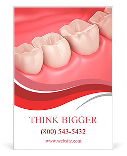 3D teeth or tooth close up illustration Ad Template