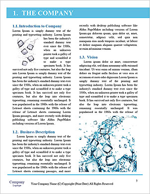 Water splash with ice cubes Word Template - Page 3