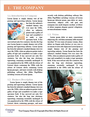 Female office worker using touchpad Word Template - Page 3