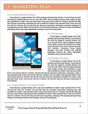 Female office worker using touchpad Word Template - Page 8