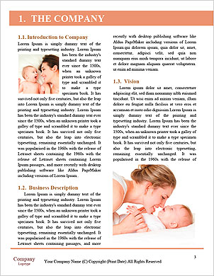 Young mother hugging baby Word Template - Page 3