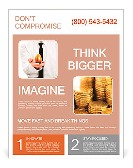 Businessman holding a golden egg concept for wealth, investment and retirement Flyer Template
