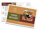 Sleeping giant panda baby Postcard Template