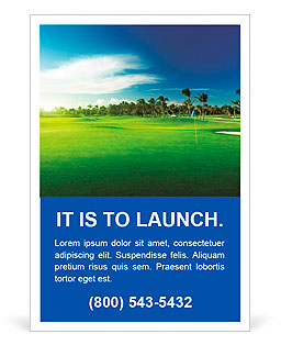 Golf course Ad Template