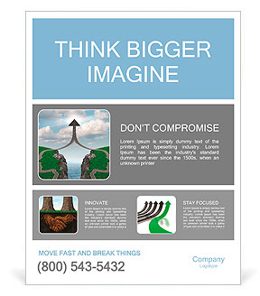 Bridge the gap and bridging the differences in two business partners over a financial cliff to merge Poster Template