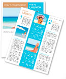 Vacation holidays. Woman feet closeup of girl relaxing on beach on sunbed enjoying sun on sunny summ Newsletter Template