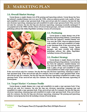 Happy children playing head over heels on green grass in spring park Word Template - Page 8