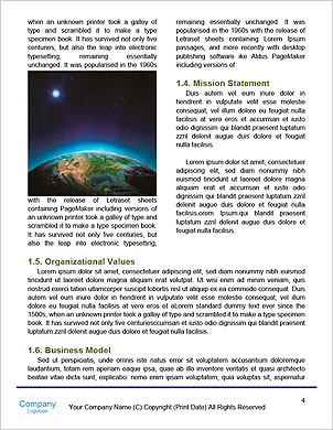 Planet earth with sun rising over European countries (Elements of this image furnished by NASA- eart Word Template - Page 4