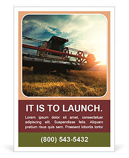 Harvesting machine Ad Template