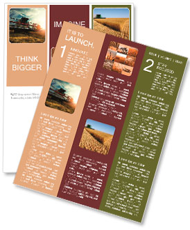 Harvesting machine Newsletter Template