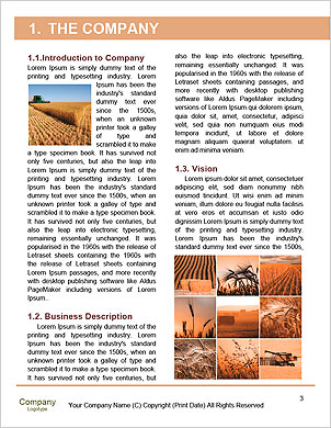 Harvesting machine Word Template - Page 3