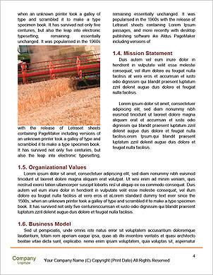 Harvesting machine Word Template - Page 4