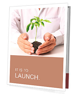 Holding a plant isolated on a white background Presentation Folder