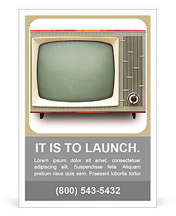 Vintage TV set isolated. Clipping path included. Ad Template
