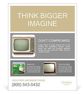 Vintage TV samodzielnie. Strzyżenie ścieżka włączone. Plakaty