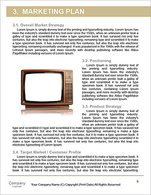 Vintage TV set isolated. Clipping path included. Word Template - Page 8
