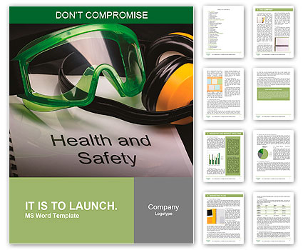 Health and safety register with goggles and earphones Word Template