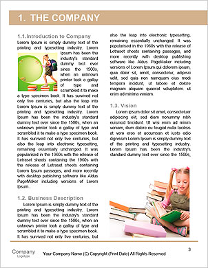 Child climbing stairs Word Template - Page 3
